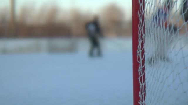 Ice hockey scene (slow motion) video
