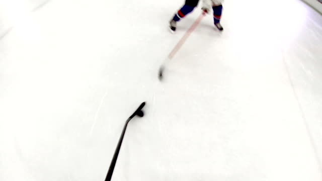 Ice hockey training. video