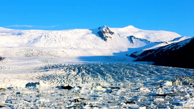 Ice Melt Slow Pan of Melting Glacier in Iceland on a sunny blue sky day icecap stock videos & royalty-free footage