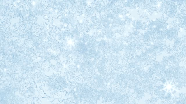 ice on frozen window texture with snowflakes for background or backdrop video
