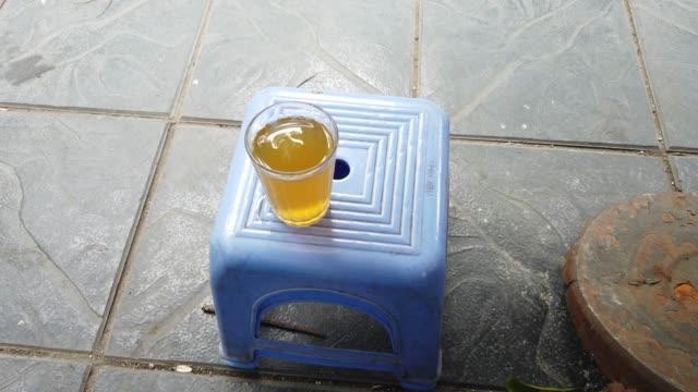 Ice tea in street vendor in Hanoi, Vietnam