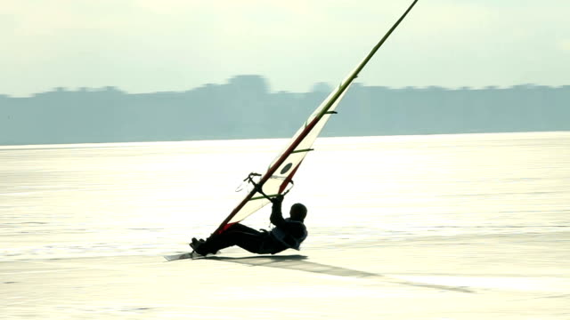ice windsurfing high speed video