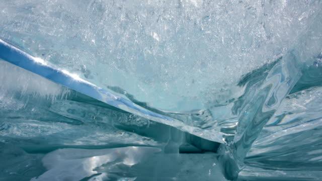 氷タイムラプス ズームアウト ビデオ