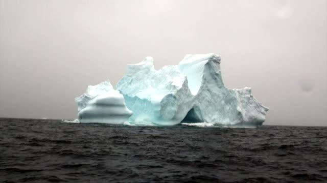 Iceberg in ocean of Antarctica. video