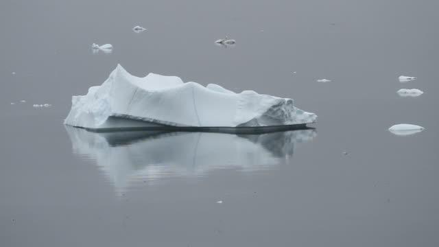 Iceberg lying in calm waters video