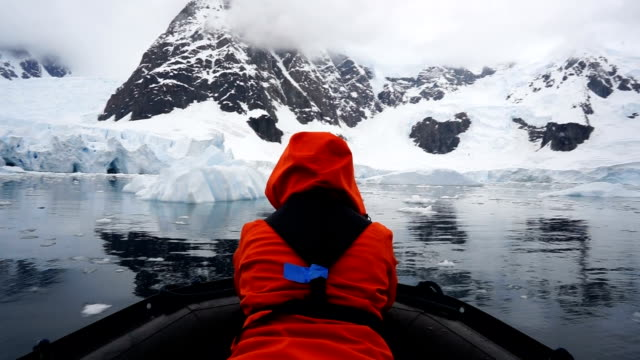 iceberg tour - ghiaccio galleggiante video stock e b–roll