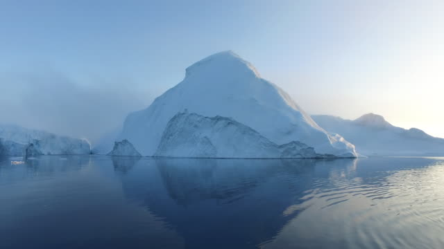 Icebergs on Arctic Ocean in Greenland video