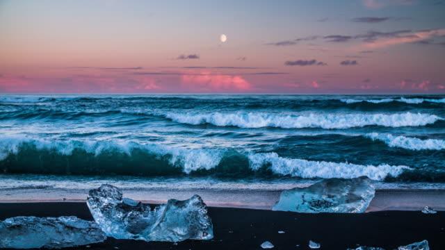 Icebergs on the Beach, Jokulsarlon Iceland video