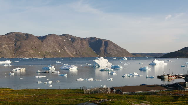 Icebergs outside of Narsaq video