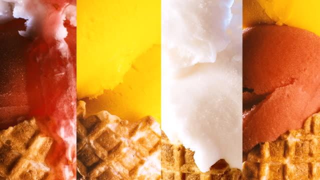 Ice-Cream Cone Melting Montage video