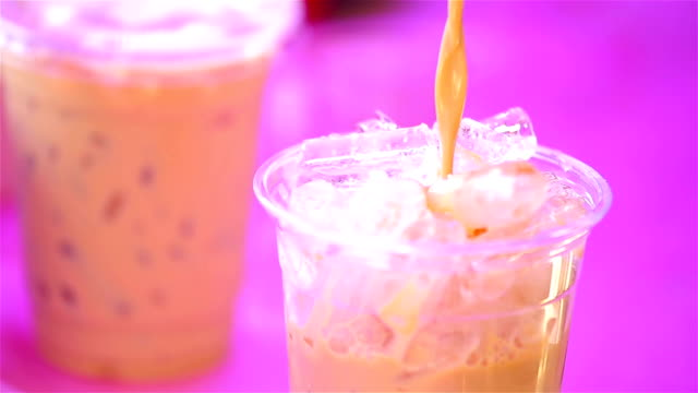 iced coffee video