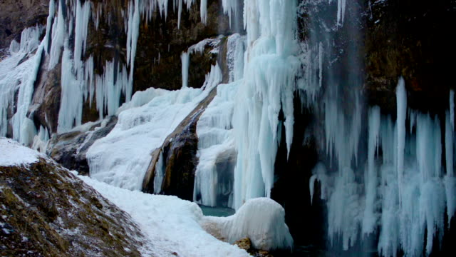 icefall with river like cinemagraph effect video