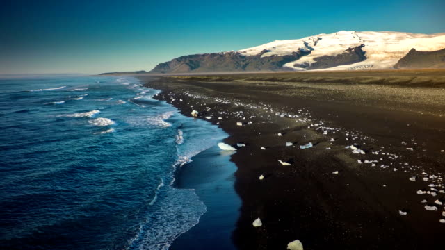 Iceland Coastline - Jokulsarlon video