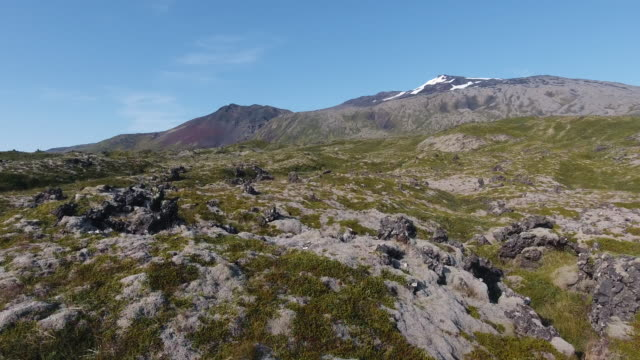 Iceland drone aerial video of nature landscape and mountains