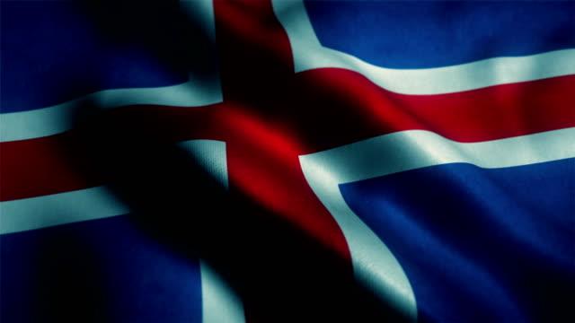 stockvideo's en b-roll-footage met vlag van ijsland - kampioenschap