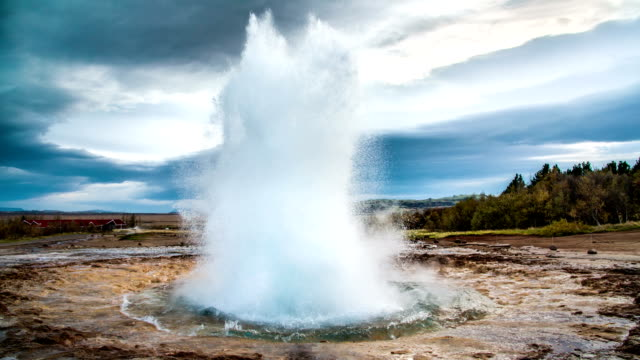 SLOW MOTION Iceland Geyser Strokkur video