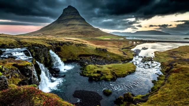 Iceland Landscape Kirkjufell Volcano video