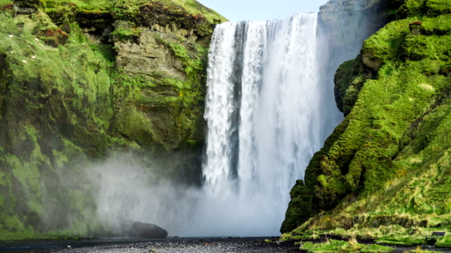 Iceland Waterfall Skogafoss video