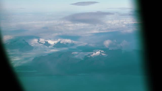Icelandic Glacier from Airplane Window video