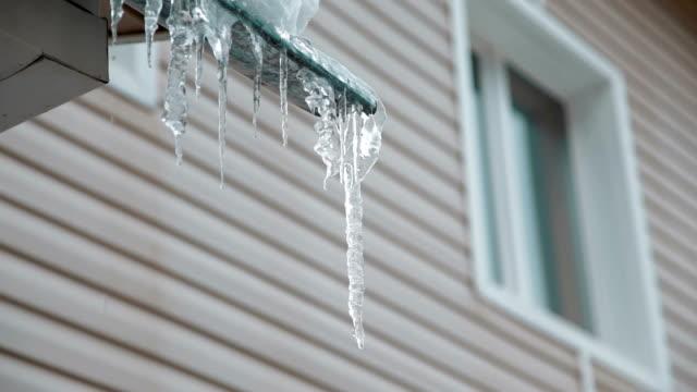 icicles melting - icicle bildbanksvideor och videomaterial från bakom kulisserna