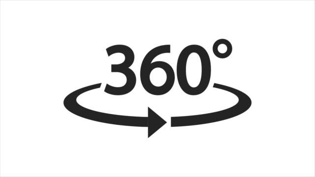 Icon 360° animation with optional luma matte. Alpha Luma Matte included. 4k video video