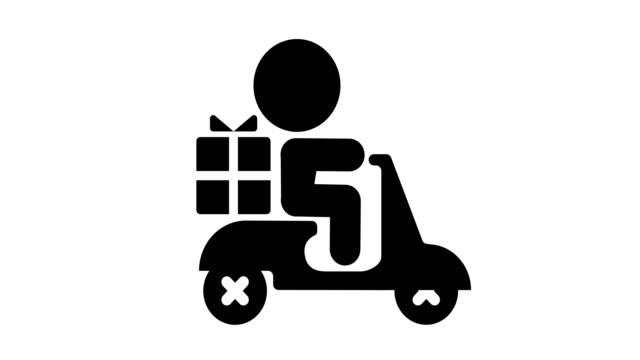 贈り物を配達するアイコン - アイコン プレゼント点の映像素材/bロール