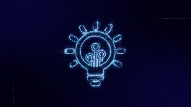 INNOVATION icon digital code technology background