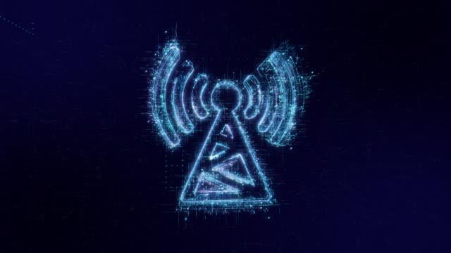 COMMUNICATION icon digital code technology background