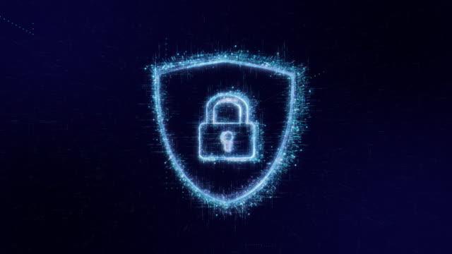 vídeos y material grabado en eventos de stock de icono de seguridad de la tecnología de código digital fondo - seguridad