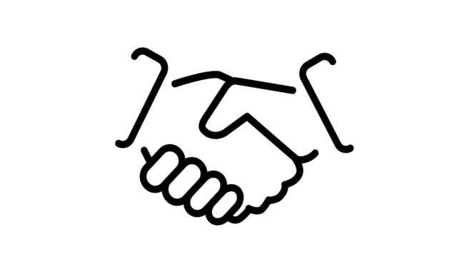 icon handshake Animation of icon business handshake cartoon stock videos & royalty-free footage