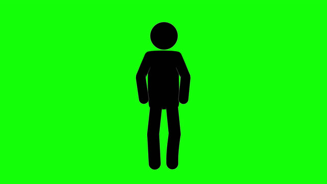 Icon Man Breath Figure Animation. Character 2D Cartoon Animations. Pictogram People Unique Silhouette Vector Icon Set. Animated Stickman Poses on Transparent Background. Moving Activity Variation Green Screen Chroma Key person icon stock videos & royalty-free footage