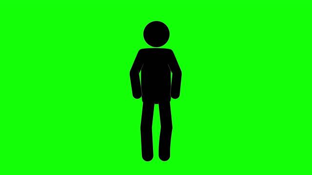 vídeos y material grabado en eventos de stock de animación de la figura de aliento del hombre del icono. animaciones de dibujos animados de personajes 2d. pictogram personas único silueta vector icono set. poses de stickman animado en fondo transparente. variación de la actividad móvil - person icon