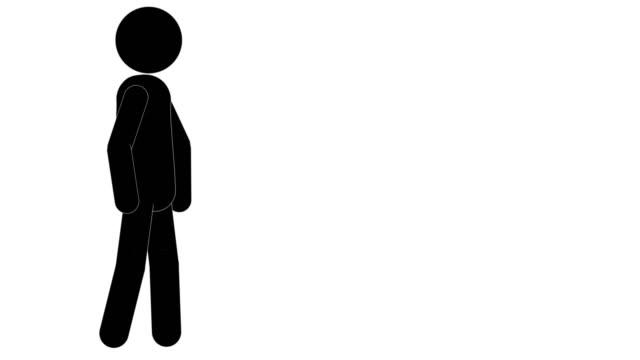 vídeos y material grabado en eventos de stock de icon man figura animación inactiva. animaciones de dibujos animados de personajes 2d. pictogram personas único silueta vector icono set. poses animadas en fondo transparente. variación de la actividad móvil - pegajoso