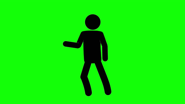 Icon Man Golf Figure Animation. Character 2D Cartoon Animations. Pictogram People Unique Silhouette Vector Icon Set. Animated Stickman Poses on Transparent Background. Moving Activity Variation