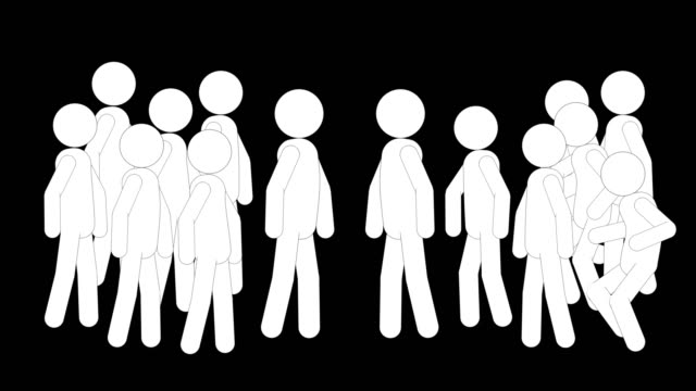 vídeos y material grabado en eventos de stock de icon men figuras desafío animación. animaciones de dibujos animados de personajes 2d. pictogram personas único silueta vector icono set. poses animadas en fondo transparente. variación de la actividad móvil - pegajoso