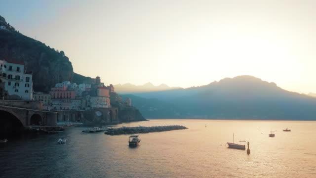 Iconic Atrani Aerial by Dawn, Amalfi Coast video