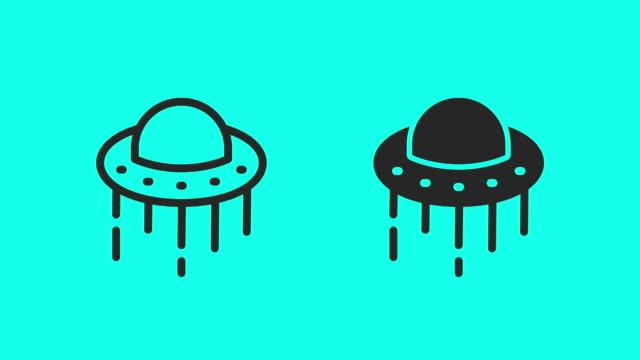 vídeos de stock, filmes e b-roll de ícones do ufo-vector animate - civilização milenar