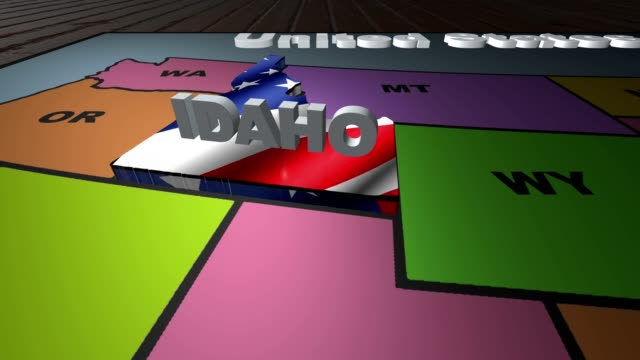 Idaho pull out from USA states abbreviations map video