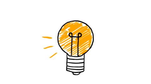 idea. schizzo lampadina con concetto di idea. lampadina disegnata a mano doodle. - idea video stock e b–roll