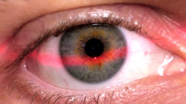 HD - Identification. Digital Retinal Scan. Close-up video