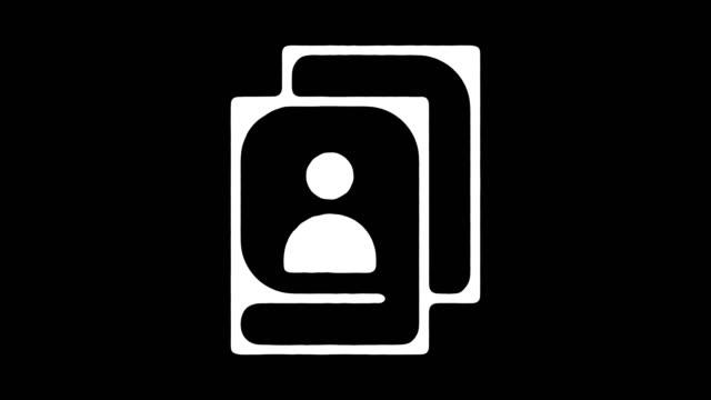 アイデンティティのアルファを持つ黒板ライン アニメーションをクローニング ビデオ