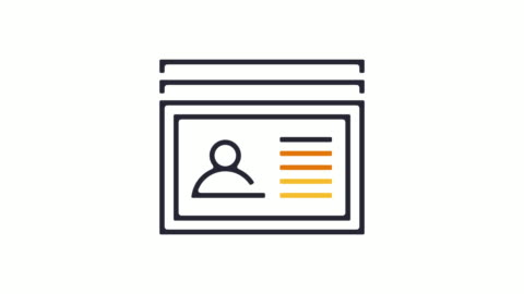 Identity Icon Animation Thin line animation of ID card icon on white background. identity stock videos & royalty-free footage
