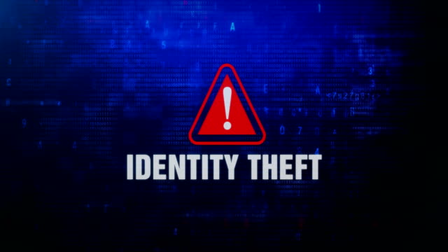 Identity Theft Alert Warning Error Message Blinking on Screen . Identity Theft Alert Warning Error Message Blinking on Screen . Entering Login And Password on Computer Screen 4K . Abstract Digital Glitch and Distorted Noise, Computer Hacking Concept identity theft stock videos & royalty-free footage