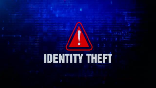 画面上の id 盗難警告警告エラーメッセージが点滅します。 - なりすまし犯罪点の映像素材/bロール