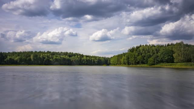 vidéos et rushes de idyllique lac time lapse - lac reflection lake