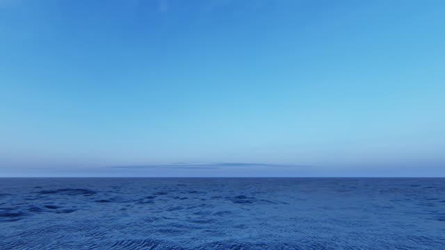 idyllischer meereshintergrund - horizont über wasser stock-videos und b-roll-filmmaterial