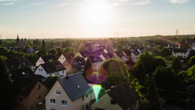 AERIAL: Idyllic town in Germany video