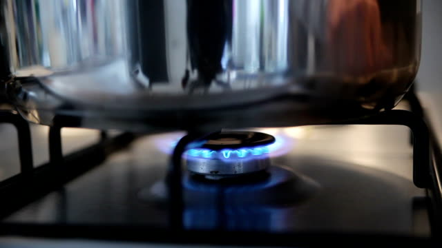 ignited gas on the stove video
