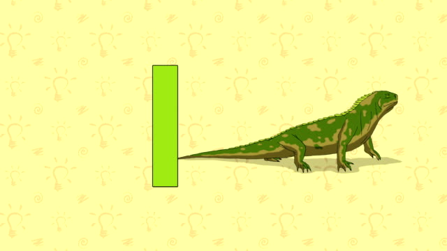 Iguana. English ZOO Alphabet - letter I video