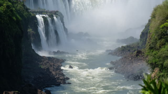 Iguazu Waterfalls Garganta del Diablo Iguazu Waterfalls Garganta del Diablo high dynamic range imaging stock videos & royalty-free footage
